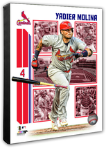Yadier Molina 2019 St. Louis Cardinals -16x20 Action+ Photo on Stretched Canvas - $89.99