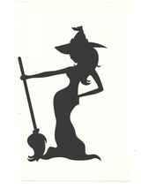 black standing witch decal ideal cars, trucks, home etc easy to apply