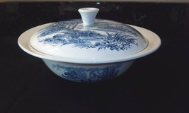 Wedgwood COUNTRYSIDE Covered Vegetable Blue White Serving Bowl with Lid - $64.30