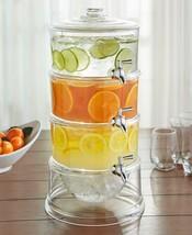 3 Gallon Beverage Dispenser Stackable Outdoor Party Drink Server Plastic... - $50.93