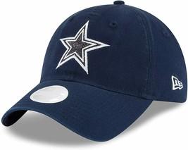 New Era Womens Dallas Cowboys 9TWENTY Adjustable Strap Hat Blue Sparkle Glisten - $35.52