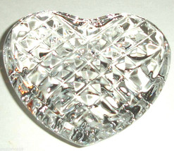 Waterford Heart Paperweight Hand Cooler Crystal Wedding Heirloom Ireland... - $86.90