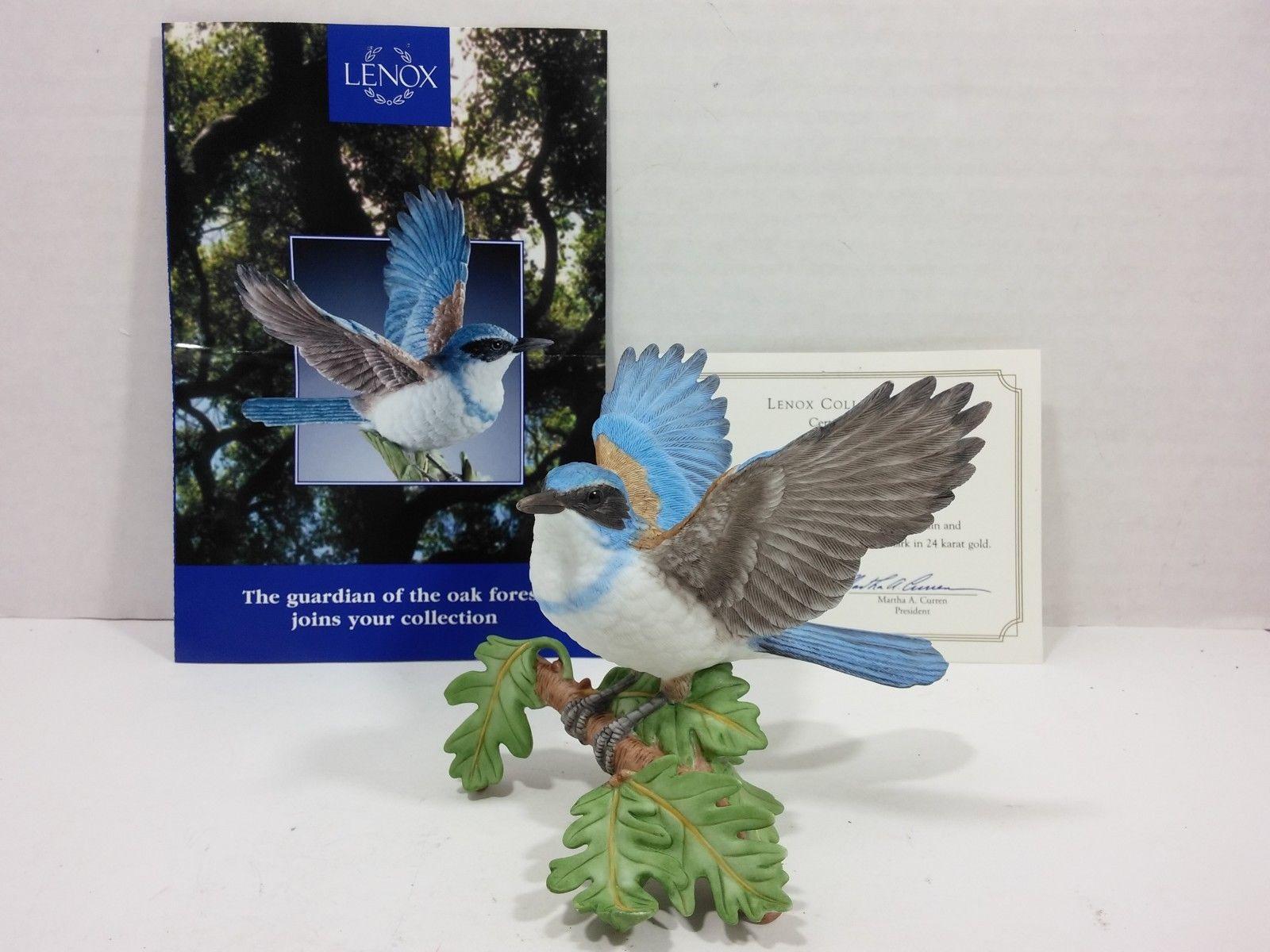 THE LENOX GARDEN BIRD COLLECTION Western Scrub Jay (2001 Fine Porcelain) image 2
