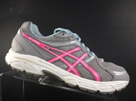 Asics Womens Size 10 M Gel Contend Running Shoes Grey Pink (T2N8Q) - $41.87