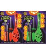 New Fun World Pumpkin Pro Colossal Carving Kit Halloween Stencils Lot of... - $11.76