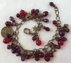 Zodiac Sagittarius Beaded Charm Bracelet - $24.00