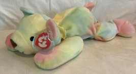 Ty 1998 Sherbet Tye Dye Teddy Bear Stuffed Animal Plush Pillow Pal Baby Toy Tags - $16.82