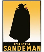 9500.Porto sandman.black clothed man with red drink.POSTER.decor Home Of... - $10.89+