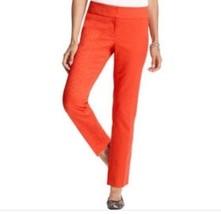 NEW Ann Taylor LOFT 12 Large Dress Pant Vibrant Orange Marisa Ankle Tren... - $29.95