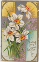 Wishing You A Joyous Easter Postcard Lily Lilies Cross Fort Scott KS And... - $3.99