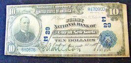 Vintage Currency - 1903 10 Dollar National Currency - The First National... - $265.00