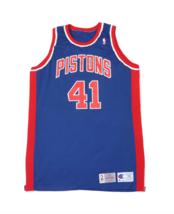 Vtg Champion NBA Detroit Pistons Mark West Player Issued Jersey #41 93/94 Sz 50 - $261.32
