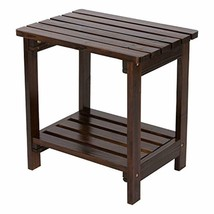 Shine Company Inc. 4104BB Rectangular Side Table, Burnt Brown - £74.78 GBP