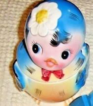 VTG TOPLINE IMPORTS BLUEBIRD JELLY JAR SALT PEPPER LEFTON RHINESTONE SHA... - $797.99