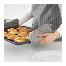 IRIS Pot holder grey 2 pack Felted polyester in between gives soft mode ... - $6.46