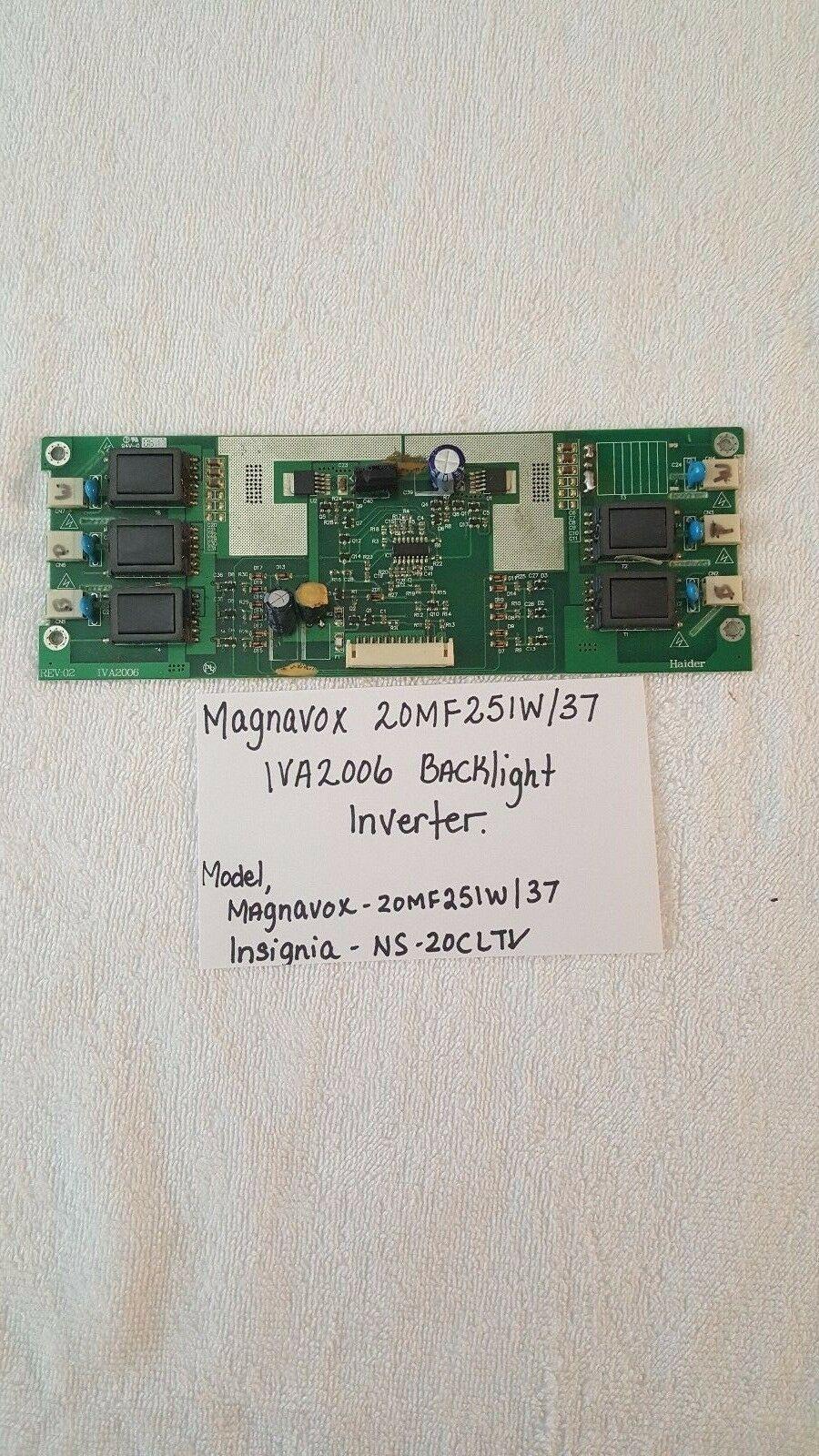 Magnavox 20MF251W/37 IVA2006 Backlight Inverter Board - $34.65