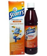 2 X 400ml Original SCOTT'S Emulsion Cod Liver Oil Extra Orange Flavor HALAL - $42.90
