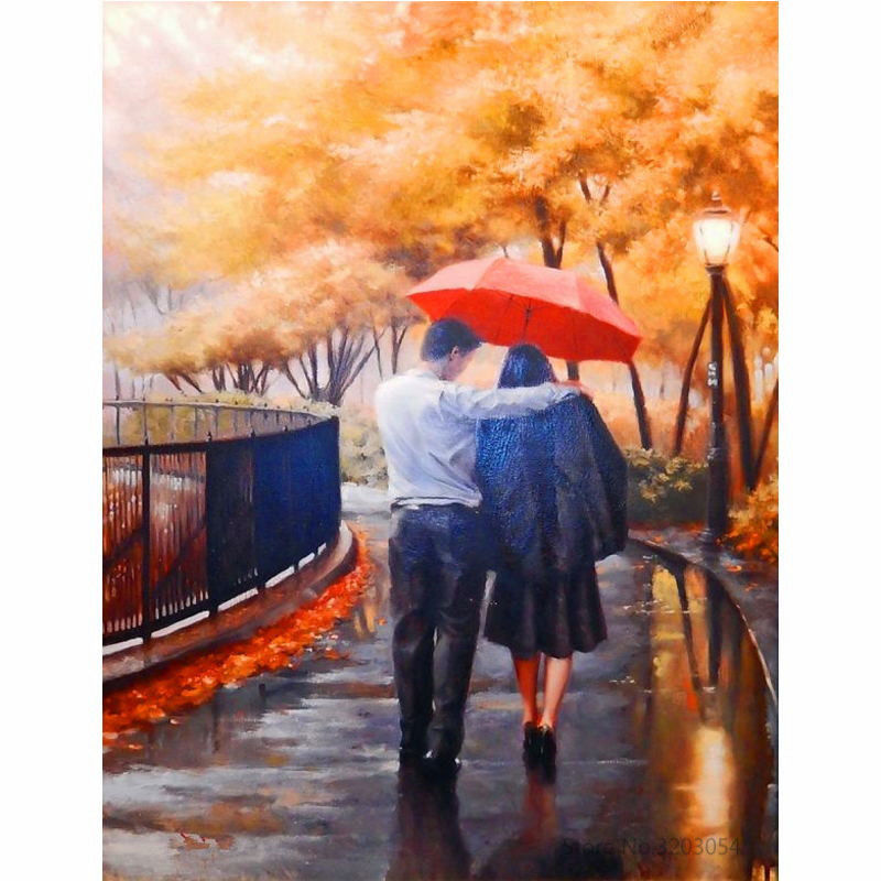 """Loved Couple 16X20"""" Paint By Number Kit DIY Acrylic Painting on Canvas Frameless"""
