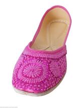 Women Shoes Indian Handmade Oxfords Wedding Leather Mojari Pink Flat US 9 - £20.21 GBP