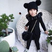 Baby girls black long sleeve romper outfit clothes - $13.42+