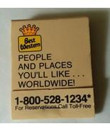 Best Western Sage Inn  Glendale Arizona Advertising Matchbook Unstruck  - $7.91