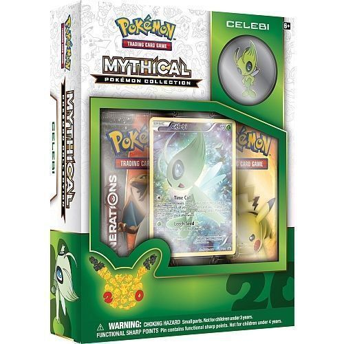 POKEMON Collection Pin Box (4): Mythical CELEBI, GENESECT, Mythical MEW, JIRACHI image 2