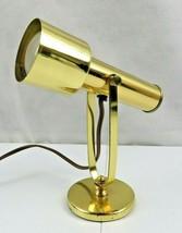 Vintage Underwriter Laboratories Portable Brass Desk Lamp Mid Century Mo... - $68.00