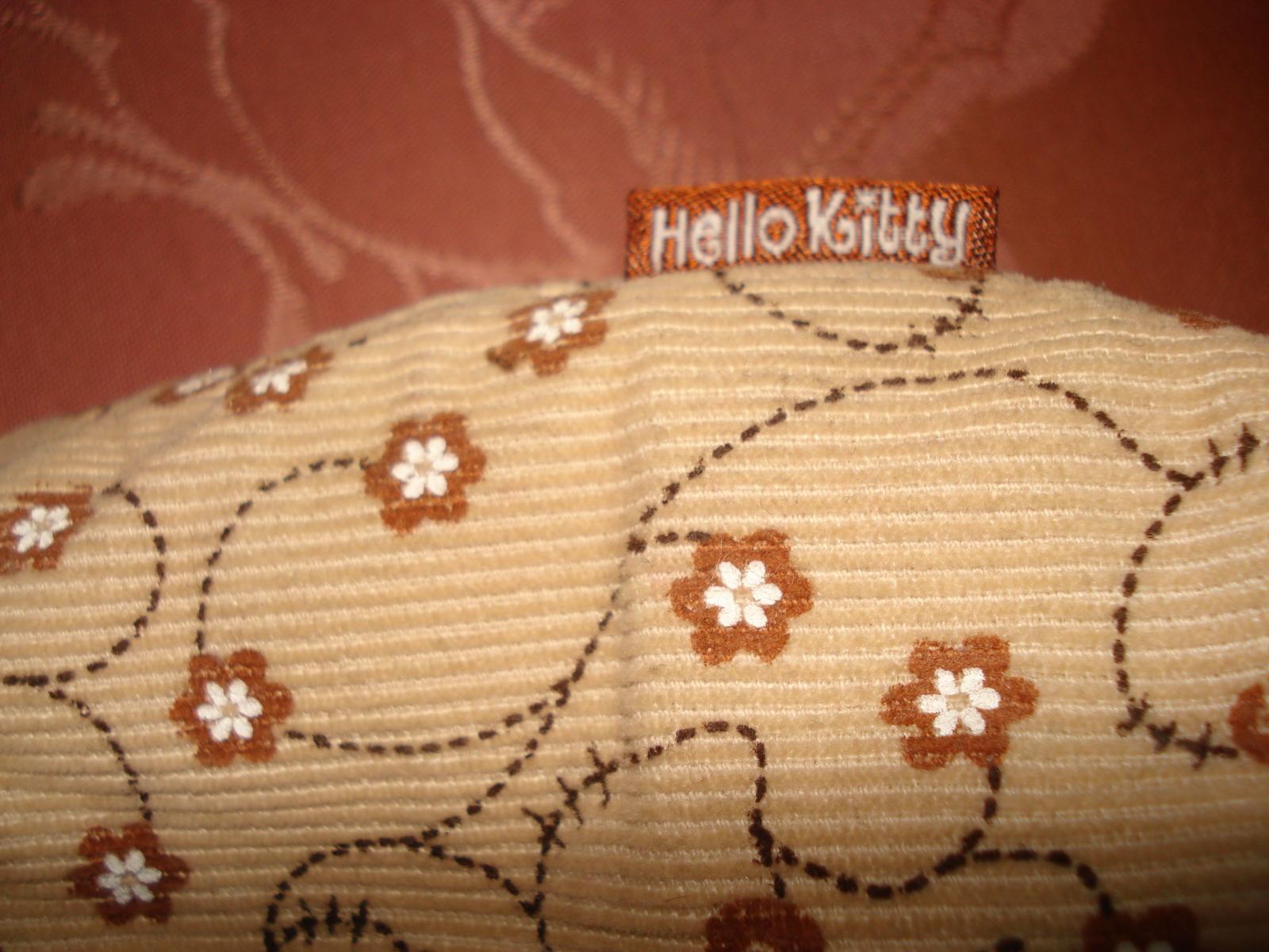SANRIO HELLO KITTY TAN BEIGE FABRIC CORDUROY COTTON HANDBAG PURSE 2008