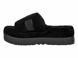UGG Fluffita Black Women's Sheepskin Slipper Slide Sandals 1113475 - $95.00