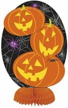 "Halloween Pumpkin 3 ct Mini 8"" Honeycomb Centerpiece Decorations - $3.95"