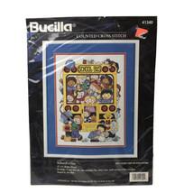 Bucilla Counted Cross Stitch Schools Out Vtg 1996 School Bus Joan Elliott 41340 - $18.80