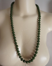 Antique Chinese Jade Peking Glass Bead Necklace Hand Knotted - $76.00