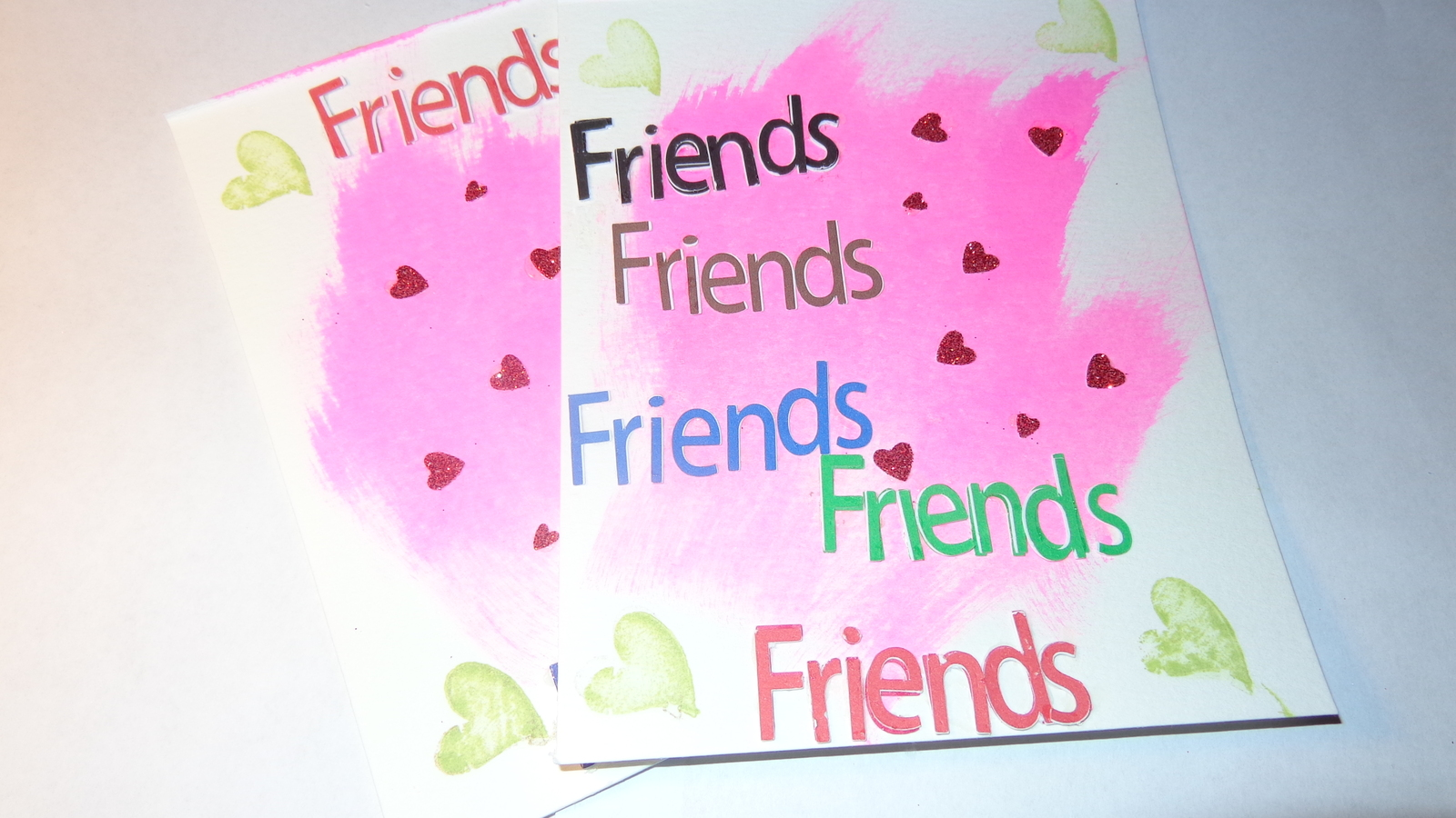 (2)+1 free gift Heartfelt square words with pink pastel color background on arti