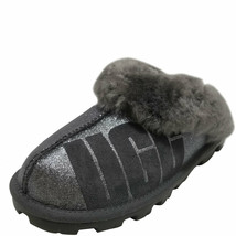 UGG Women's Coquette Sparkle Slippers Charcoal 7 MSRP 130 New - $93.64