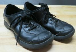 Dansko Elise Black Leather Nursing Lace Up Oxford Sneakers Womens 6.5 - 7 EU 37 - $29.69