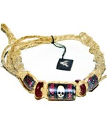 "3 NEW Skull Head 12"" Hemp Bracelets Anklets wrist jewelry - $9.99"