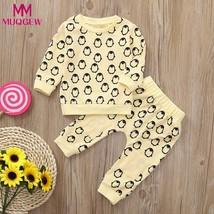 MUQGEW  Newborn Clothes Winter 2pcs Toddler Baby Boys Girls Clothes Set Penguin  - $18.02