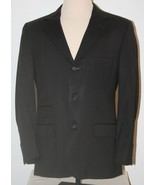 "GUCCI Black Suit Sport Coat Blazer Chest: 44"" 3-Button 48 Mens - $290.11"