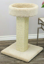 "PRESTIGE SOLID WOOD LARGE CAT SCRATCHING POST, 32"" H- FREE SHIPPING IN T... - £93.52 GBP"