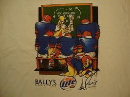 Bally's Las Vegas Miller Lite beer Cheerleader Football T Shirt XL - $11.87