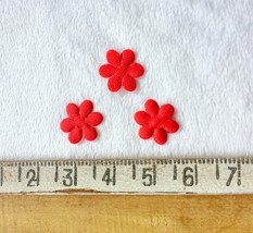 50 Tiny Red Flowers,Craft Flower,Sewing Applique,Mini Fabric Flowers,Die... - $6.75