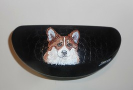 Welsh Corgi dog Art Portrait Eyeglass Glasses Sunglass Case Hand Painted - $34.00