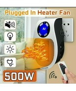 Portable Mini Electric Plug-In Wall Heater Handy Room Blower Fan Radiato... - $23.96