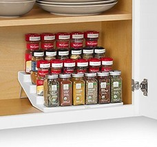 New YouCopia SpiceSteps 4-Tier Cabinet Spice Rack Organizer, White, 24-B... - $48.00
