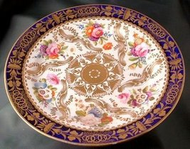 Staffordshire c1870 Hand Painted 7.5 Inch Plate - $57.33