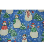 "4 Yards Cotton print fabric Snow people 147""X44""  Fabric Traditions # 2631 - $32.00"