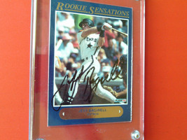 1992  JEFF  BAGWELL  AUTHENTICATED  HANDSIGNED  FLEER  ROOKIE SENSATIONS... - $34.99
