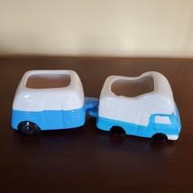 Vehicle Planters, set of 4 ceramic plant pots, RV Camper Blue Red Truck, VanLife image 10