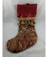 "Santas Best Christmas Eve Stocking 19"" Tapestry Tassles - $14.49"