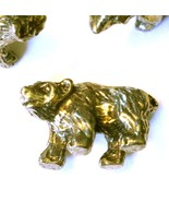 BEAR FIGURINE CAST WITH FINE PEWTER - Approx. 1/2 inch tall  (T155) - $1.24